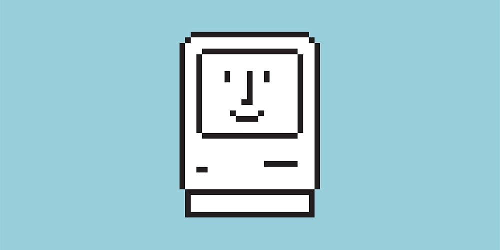 Macintosh sorrindo