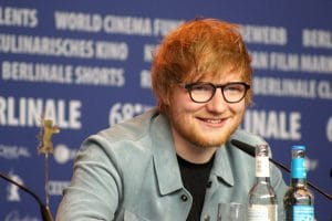 Ed Sheeran em coletiva para a imprensa