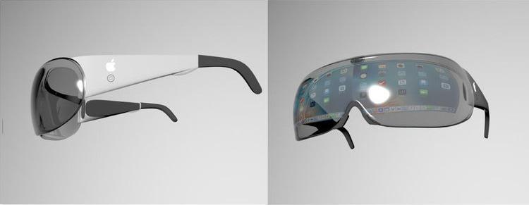 Mockups de óculos de realidade aumentada da Apple em concurso da Freelancer.com