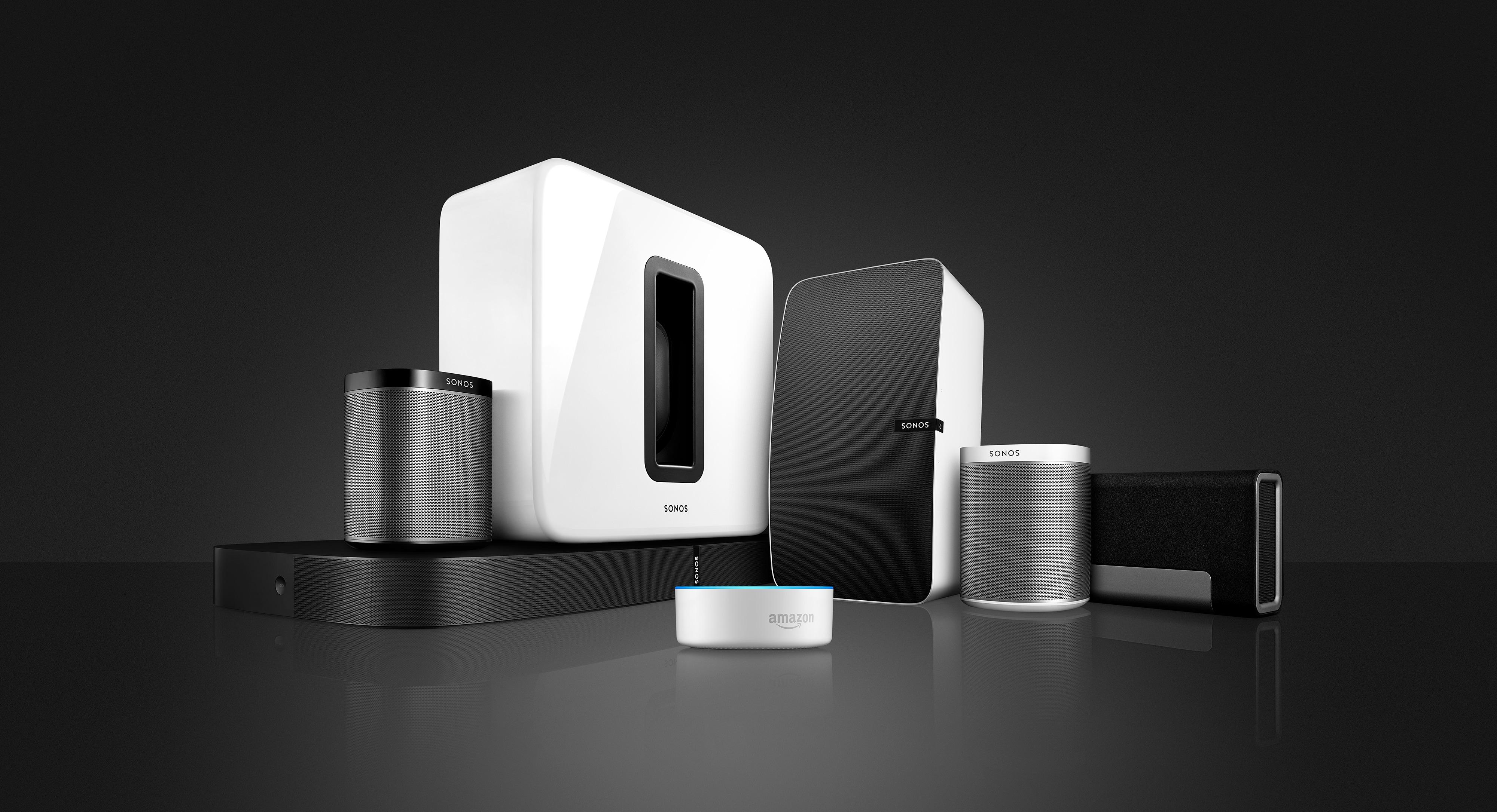 Família de produtos da Sonos