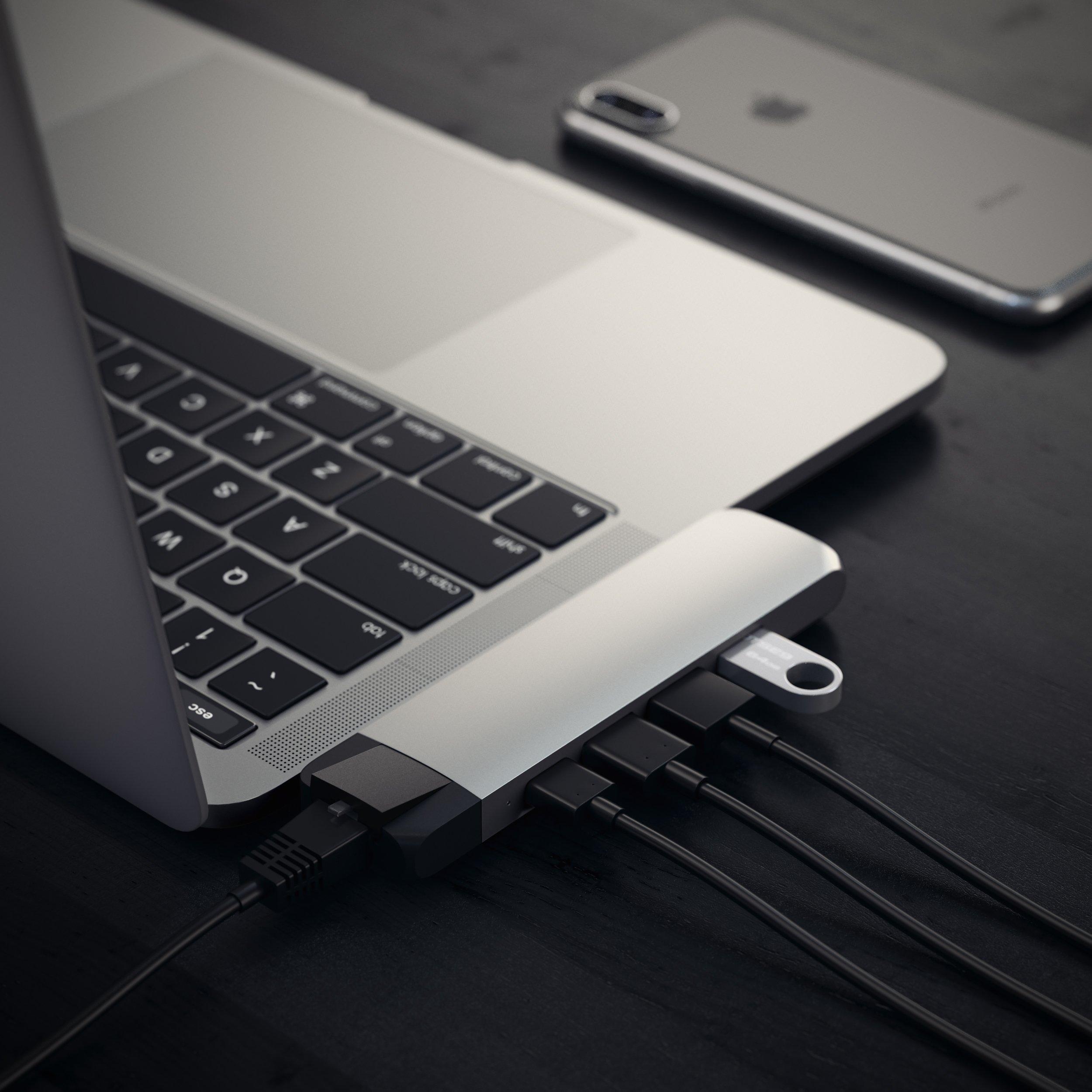 Satechi Aluminum Type-C Pro Hub with Ethernet