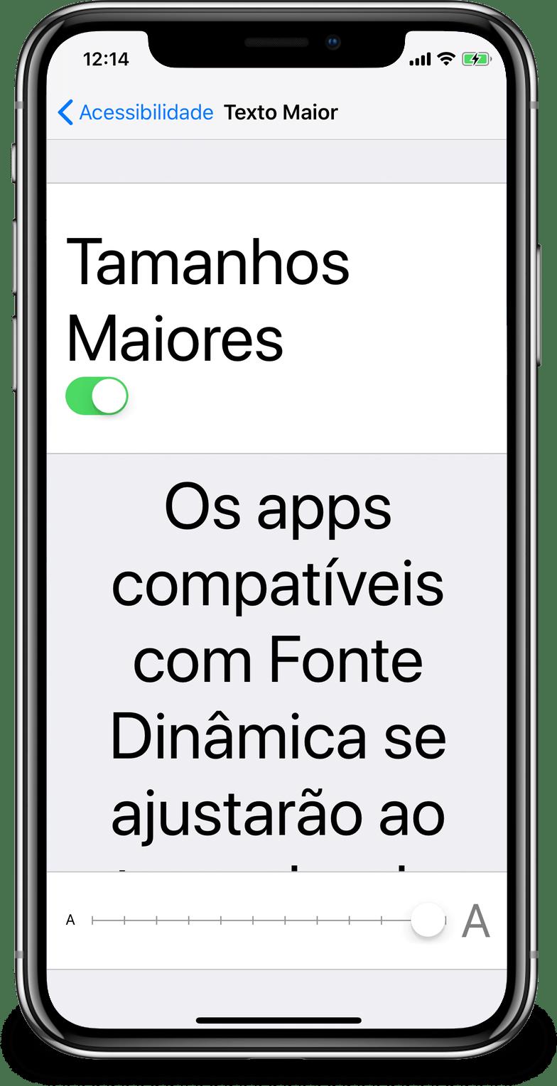 Configurando uma fonte maior no iOS