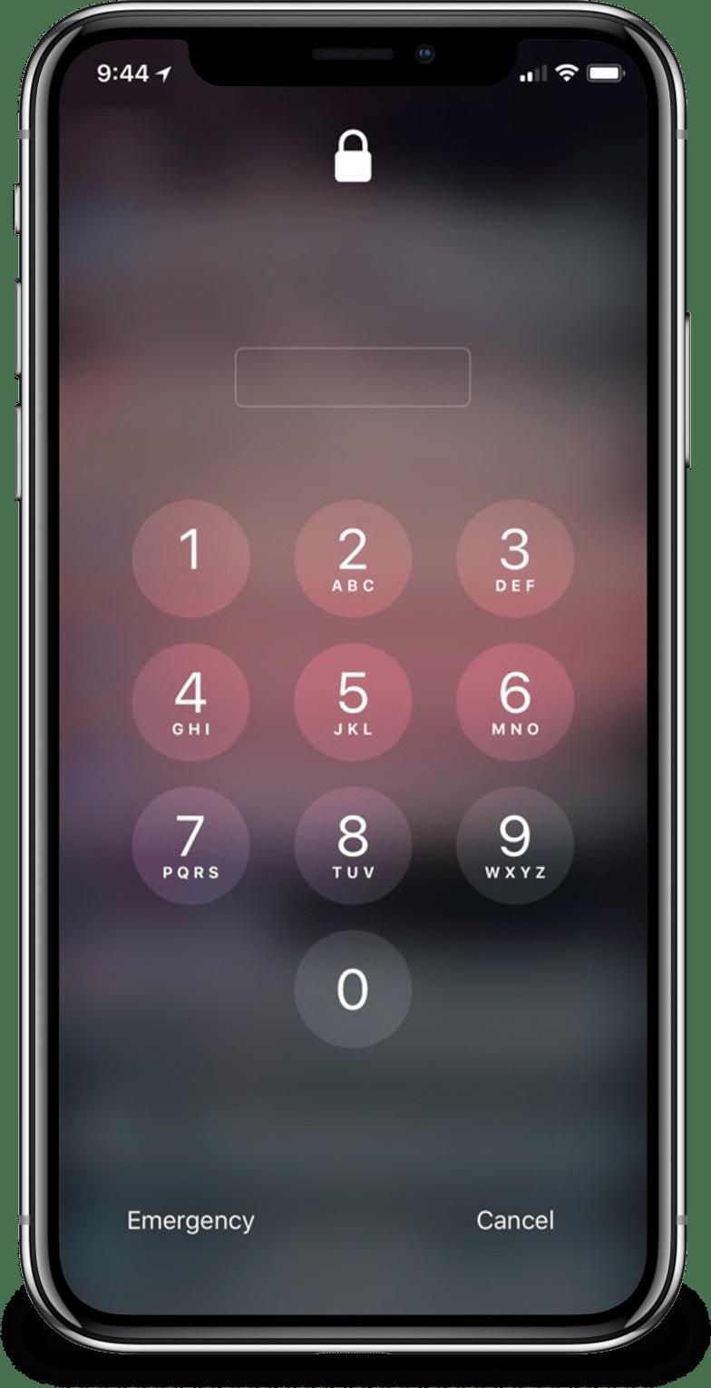 iPhone X pedindo a senha após uma semana de inatividade