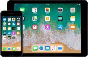 iPad e iPhone rodando o iOS 11