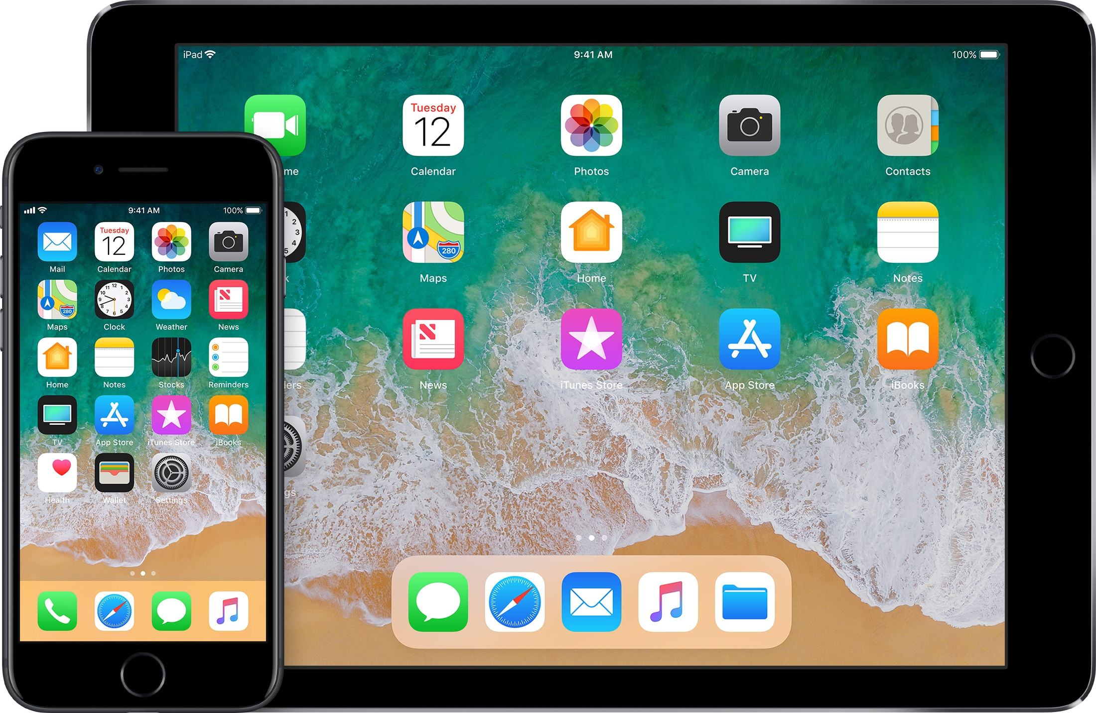iPad e iPhone rodando o iOS 11