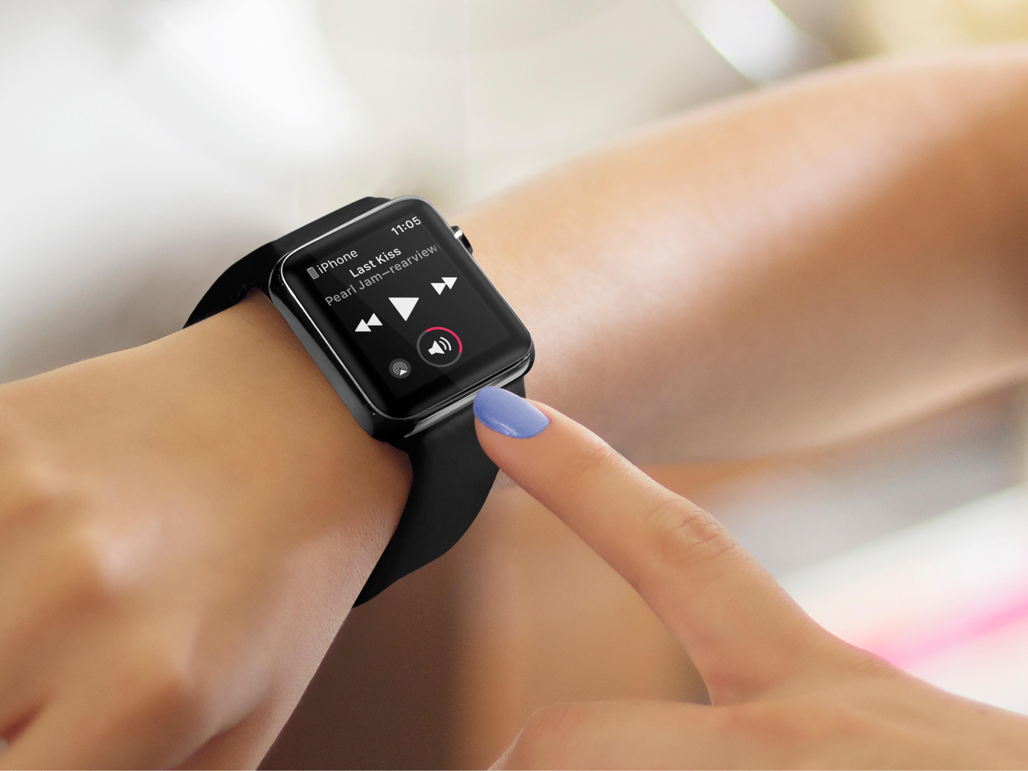 App Reproduzindo, no Apple Watch