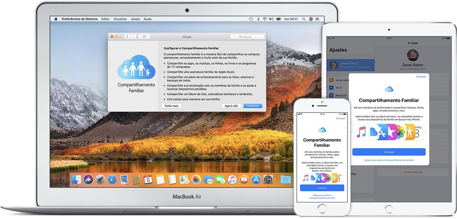 Compartilhamento Familiar do iCloud