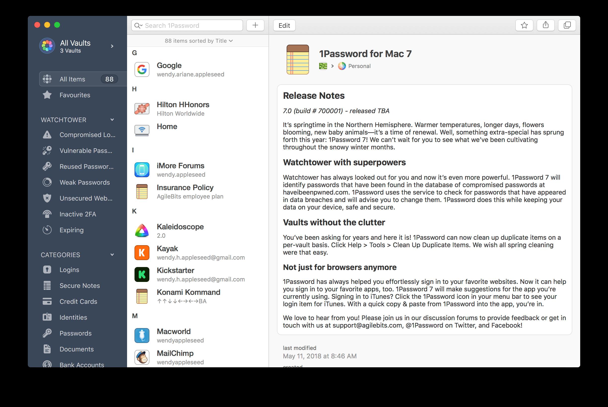 1Password 7 para macOS