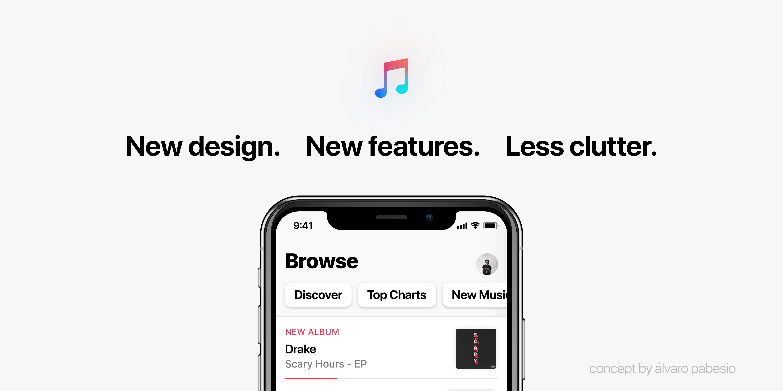 Conceito para um novo Apple Music