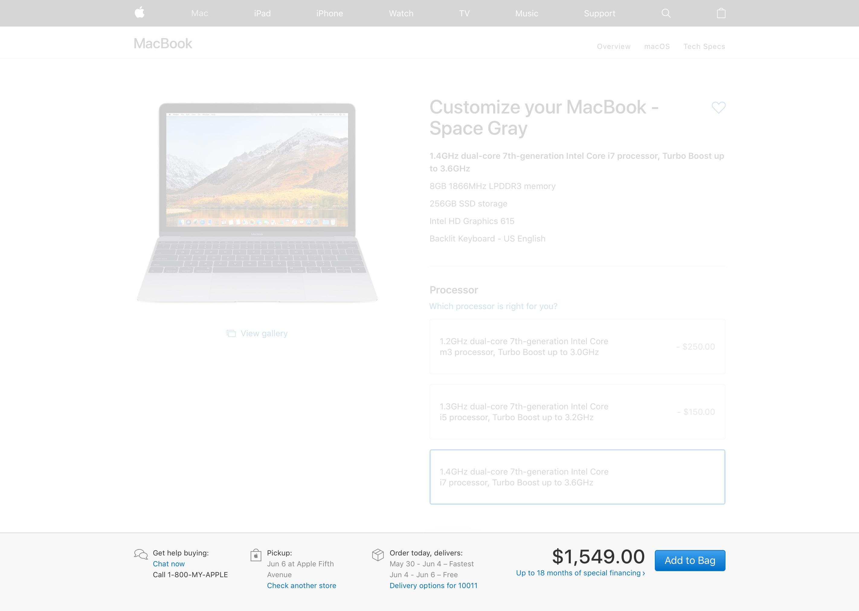 MacBook com prazo de entrega para depois da WWDC18