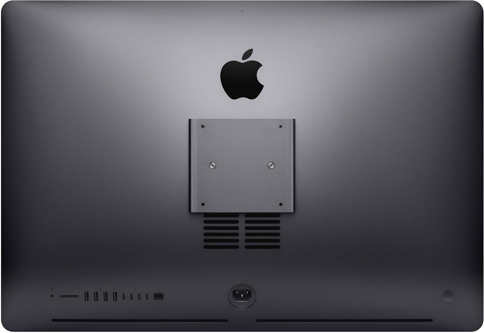 Traseira do iMac Pro com kit de montagem VESA