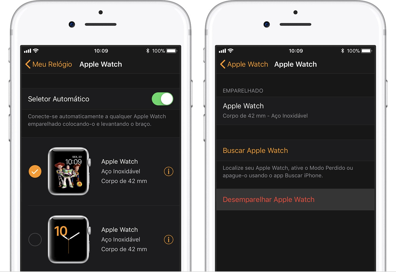 Desemparelhando o Apple Watch