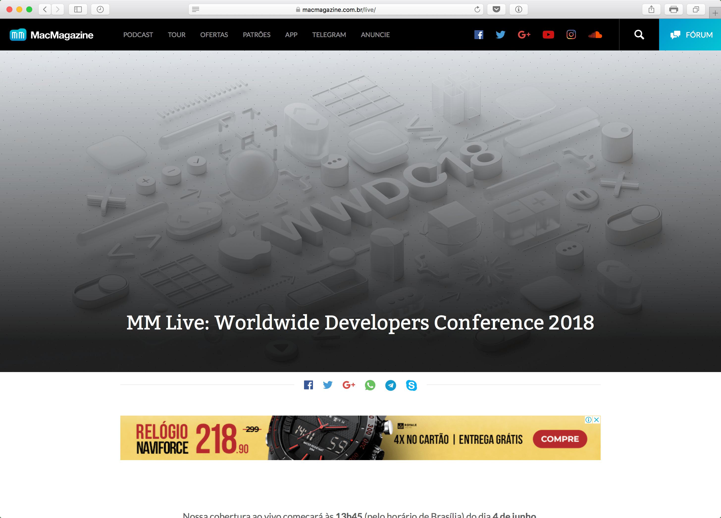 MM Live da WWDC18