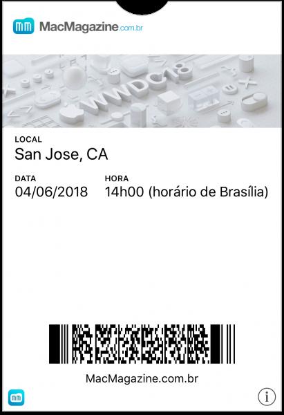 Tíquete do MM Live para a WWDC18