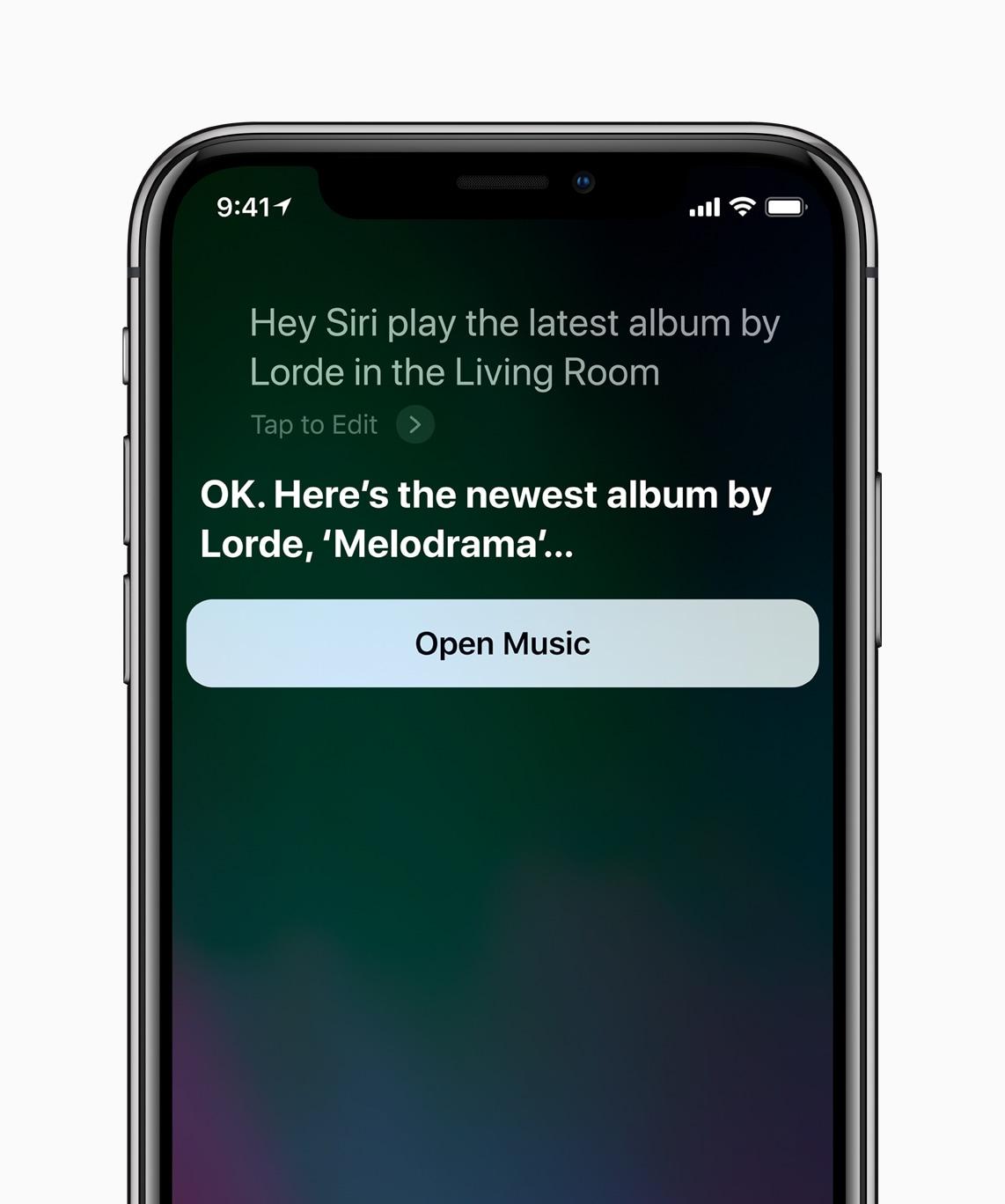 Pedindo para a Siri reproduzir uma música num determinado ambiente