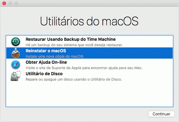 Restaurando via Time Machine