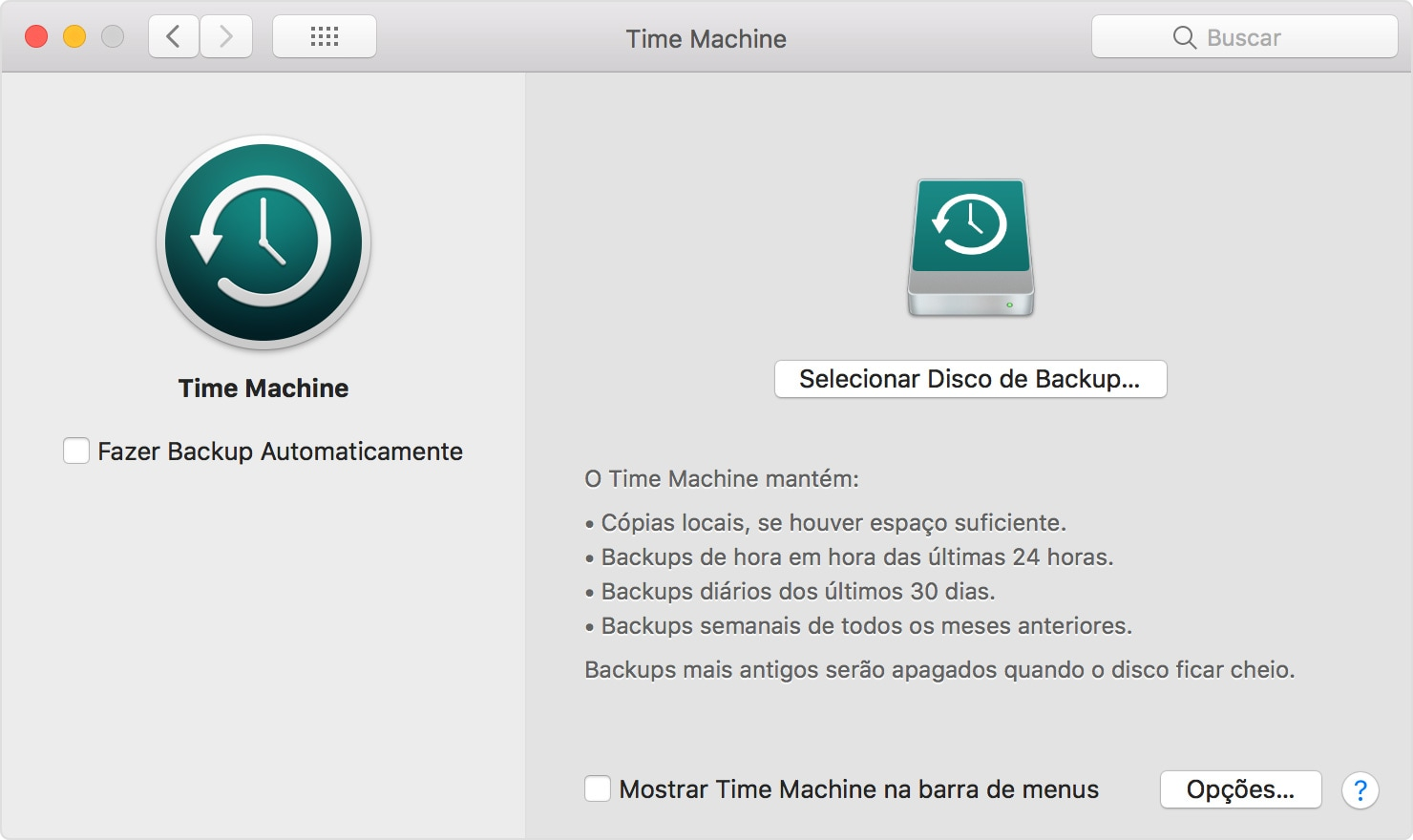 Time Machine no macOS