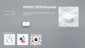 Aplicativo Apple Events na Apple TV 4K
