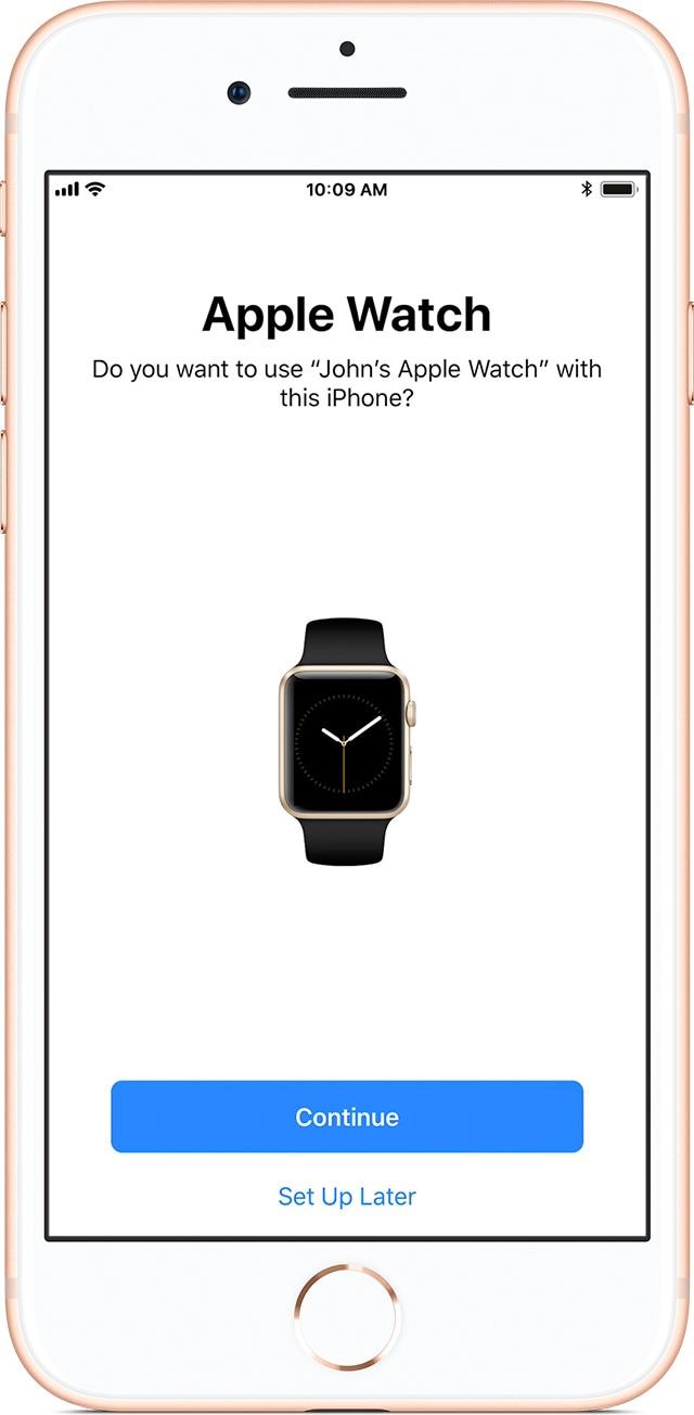 Emparelhando um Apple Watch