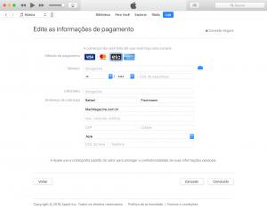 Cartão ELO na iTunes Store
