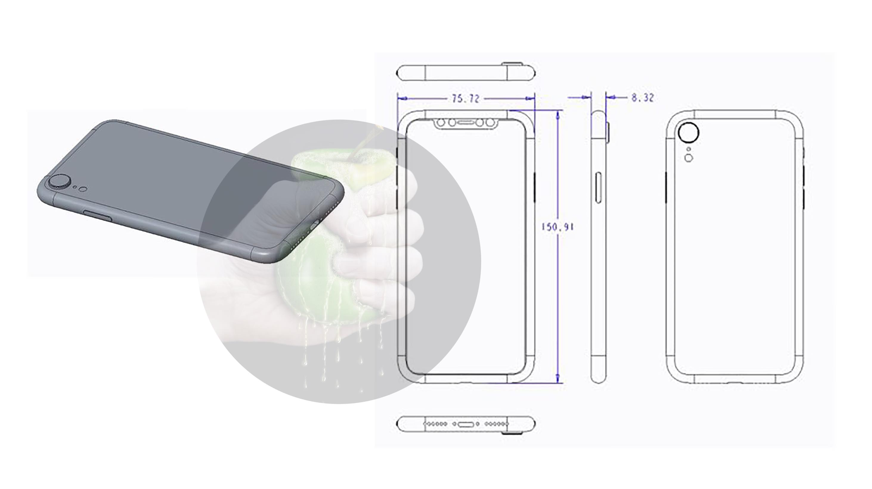 """Desenho técnico do suposto iPhone de 6,1"""""""