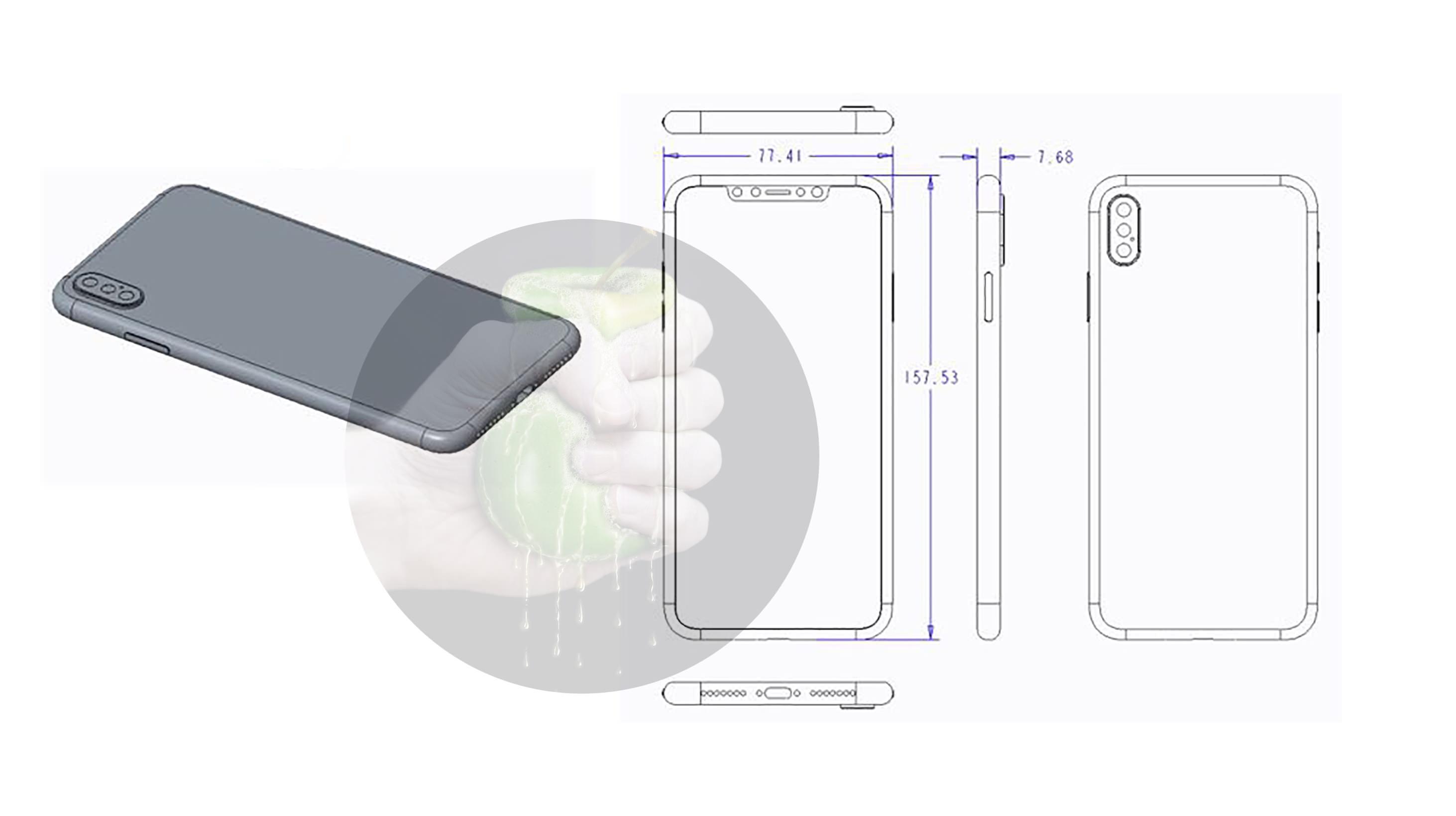 """Desenho técnico do suposto iPhone de 6,5"""""""