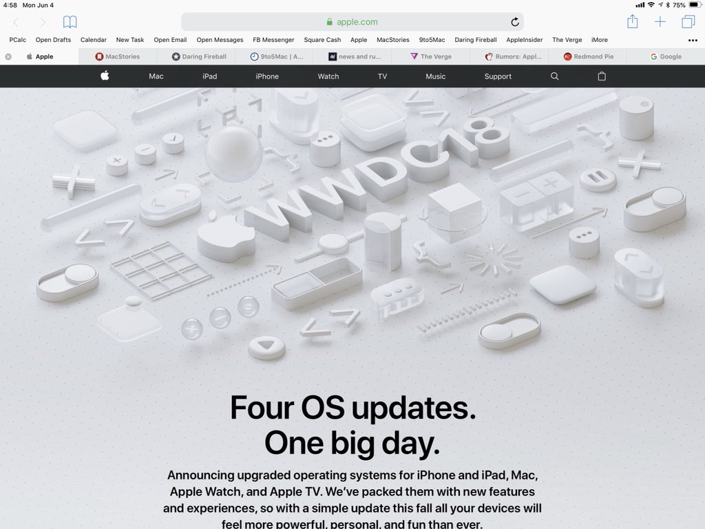 Favicons em abas do Safari no iOS 12