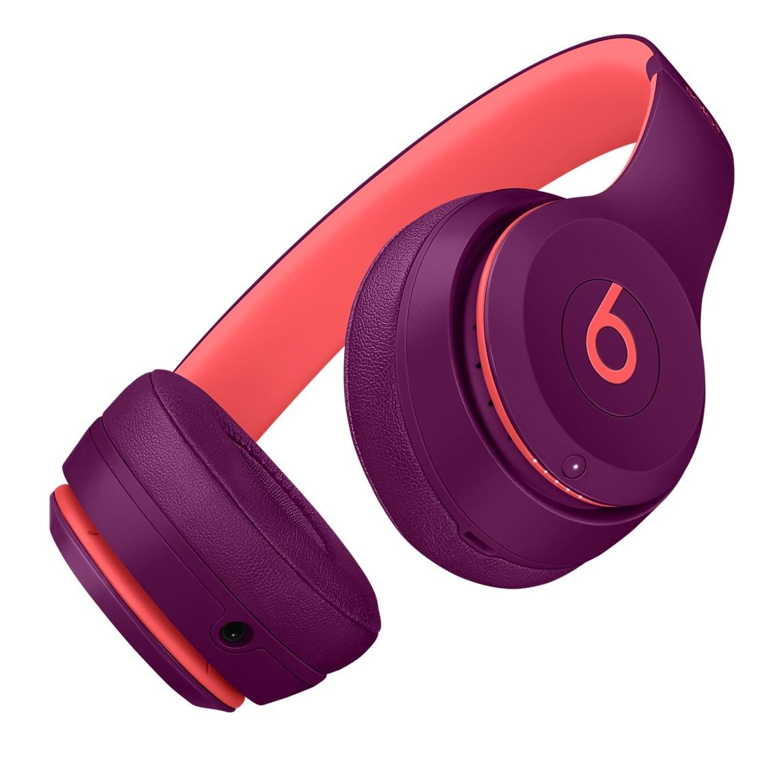 Fones Beats Solo3 Wireless na cor magenta pop