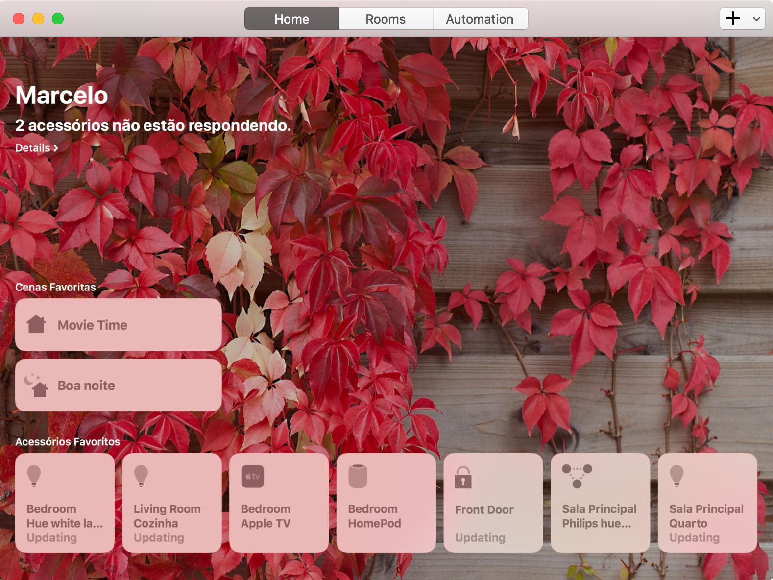 App Casa no macOS 10.14 Mojave