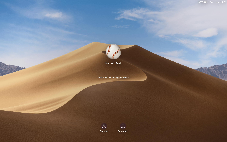 Tela de login no macOS 10.14 Mojave