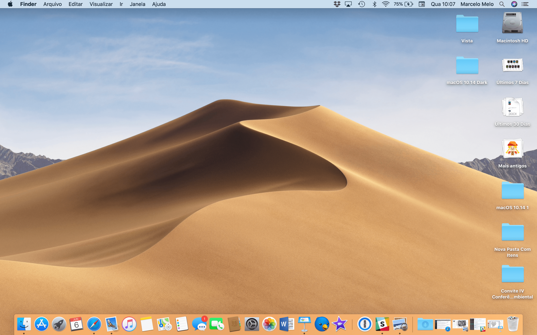 Organizando a Mesa no macOS 10.14 Mojave
