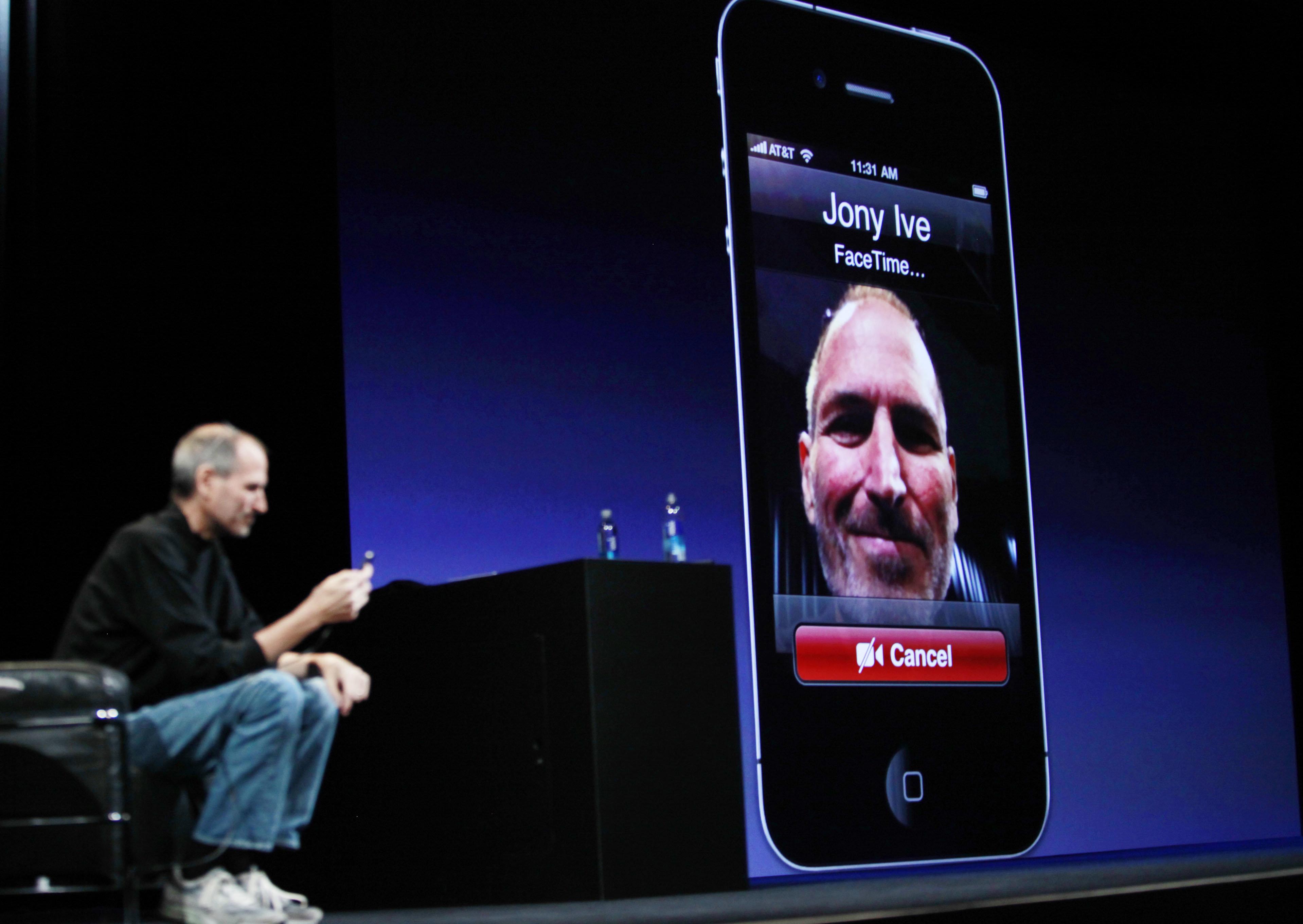 Steve Jobs apresentando o FaceTime