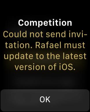 Screenshot do watchOS 5 beta