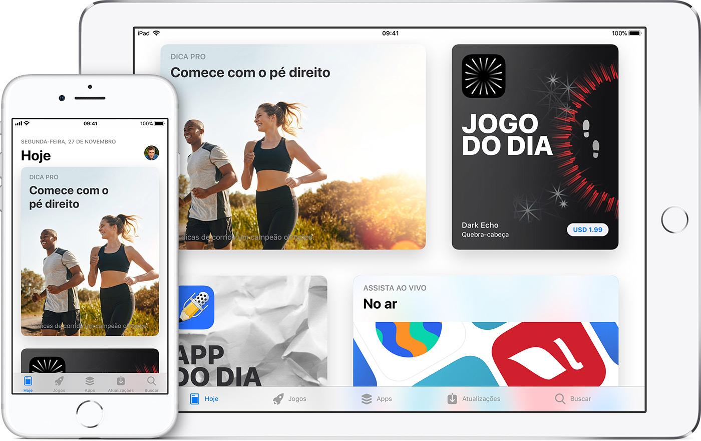 App Store no iPhone e no iPad