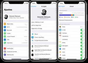 Ativando o Mensagens no iCloud
