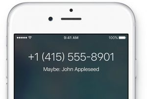 Recurso da Siri de identidade provável do número