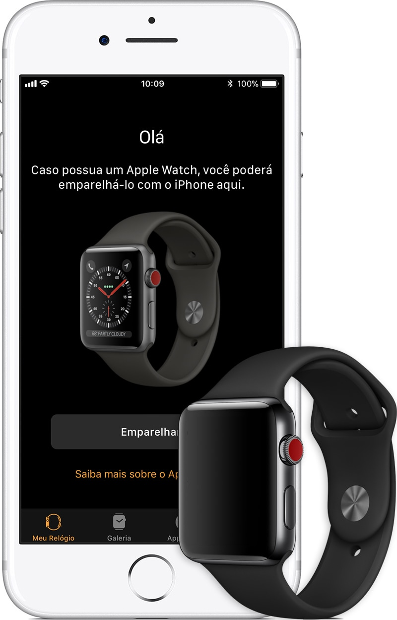 Configurando um Apple Watch