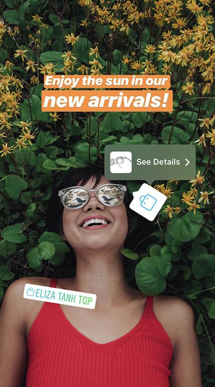 Novo recurso de marcação de produtos nas Stories do Instagram