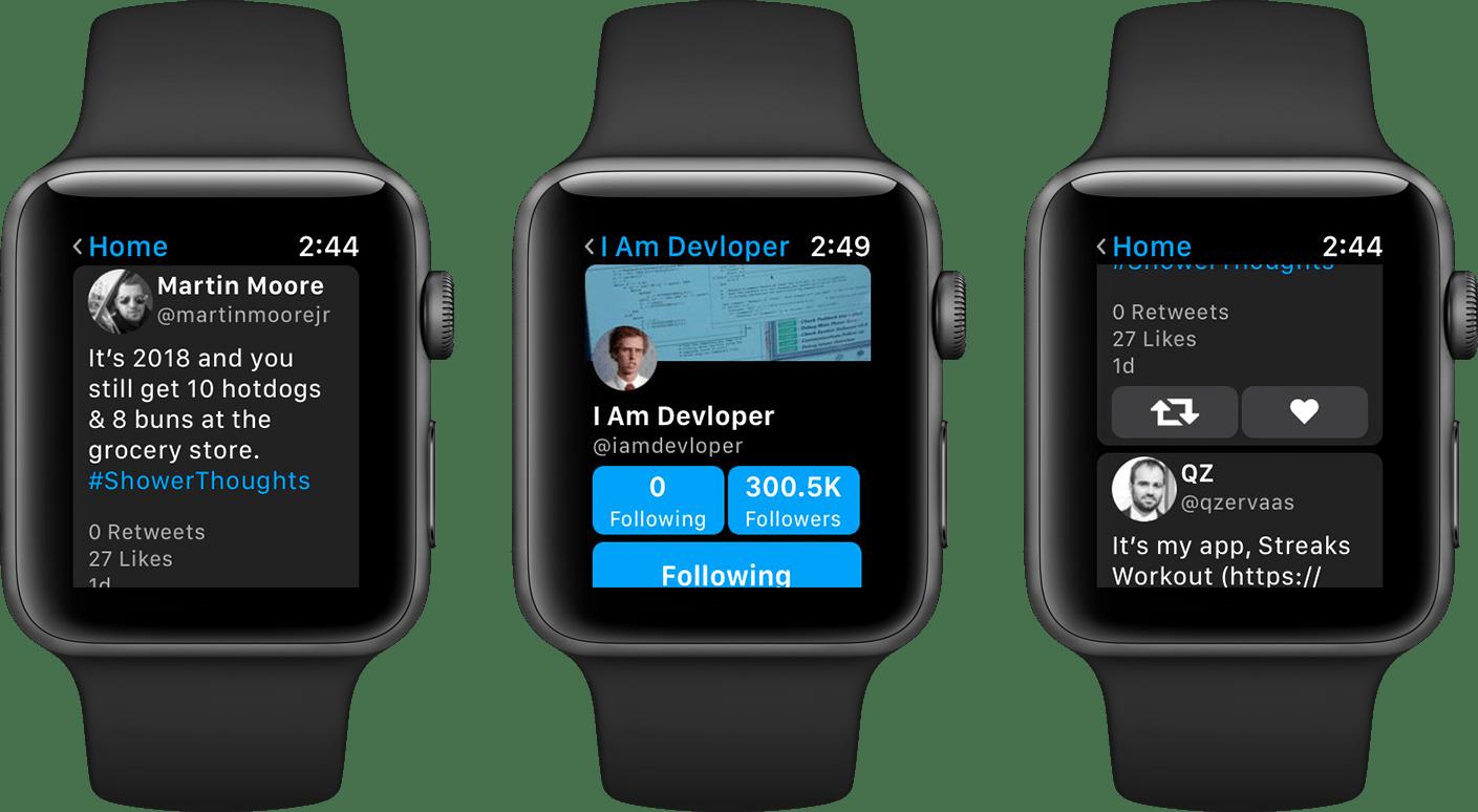 App Chirp em Apple Watches