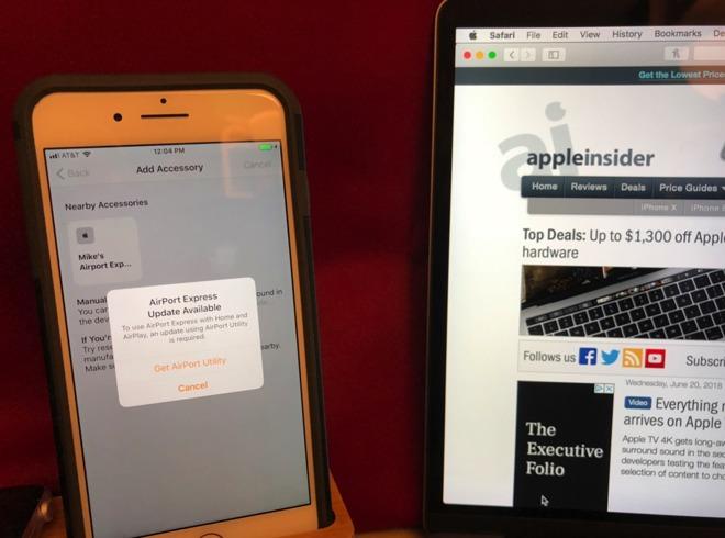 Atualização do AirPort Express no App Home, beta do iOS 12