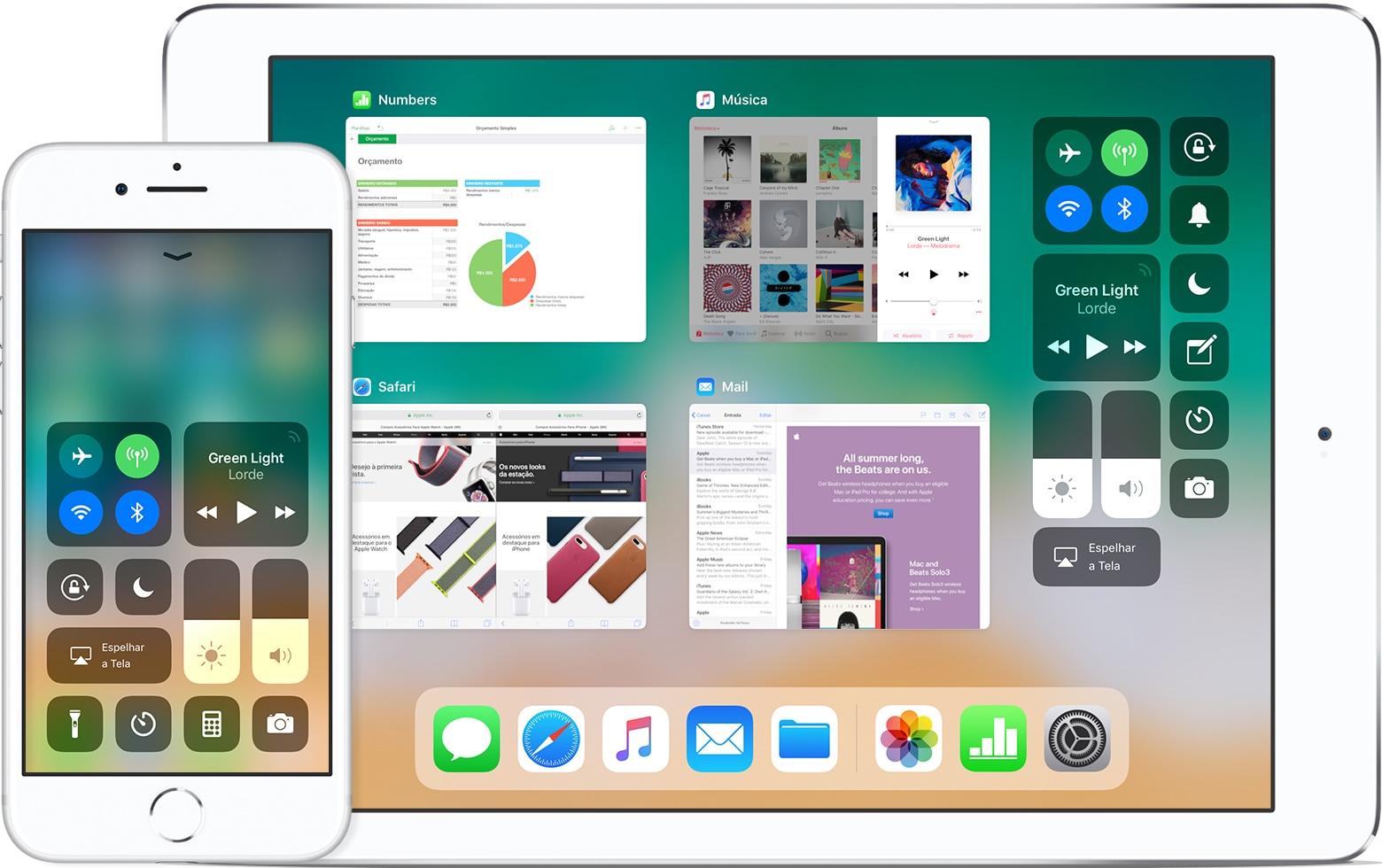 Central de Controle no iOS 11