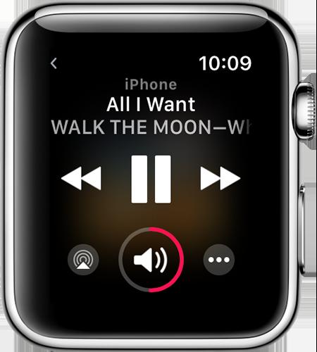 Controlando músicas do iPhone pelo Apple Watch