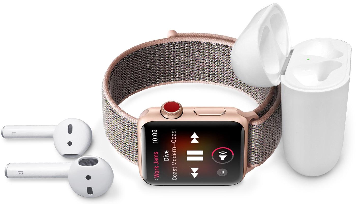 Ouvindo música no Apple Watch