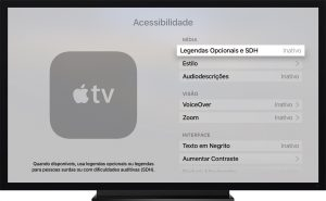 Legendas no tvOS