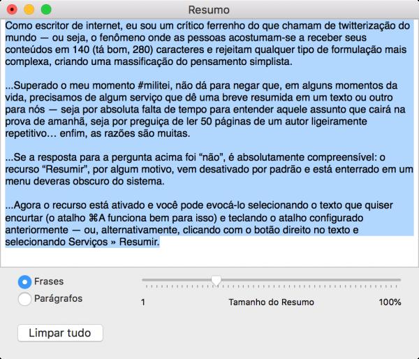 """Como utilizar o recurso """"Resumir"""" para encurtar textos longos no macOS"""