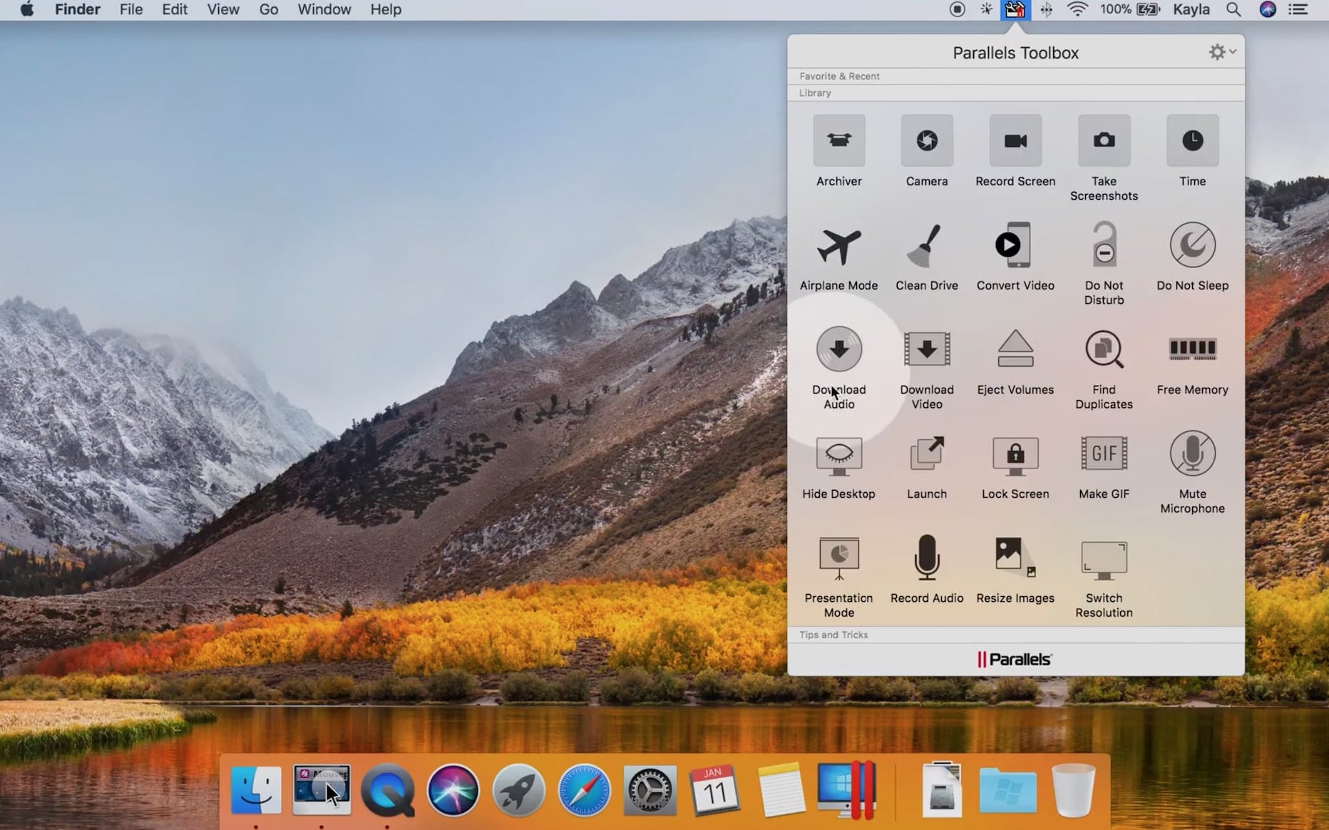 Parallels Toolbox Packs