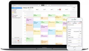 Calendário do macOS e do iOS