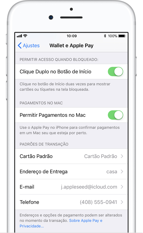 Como mudar o cartão padrão do Apple Pay no iPhone