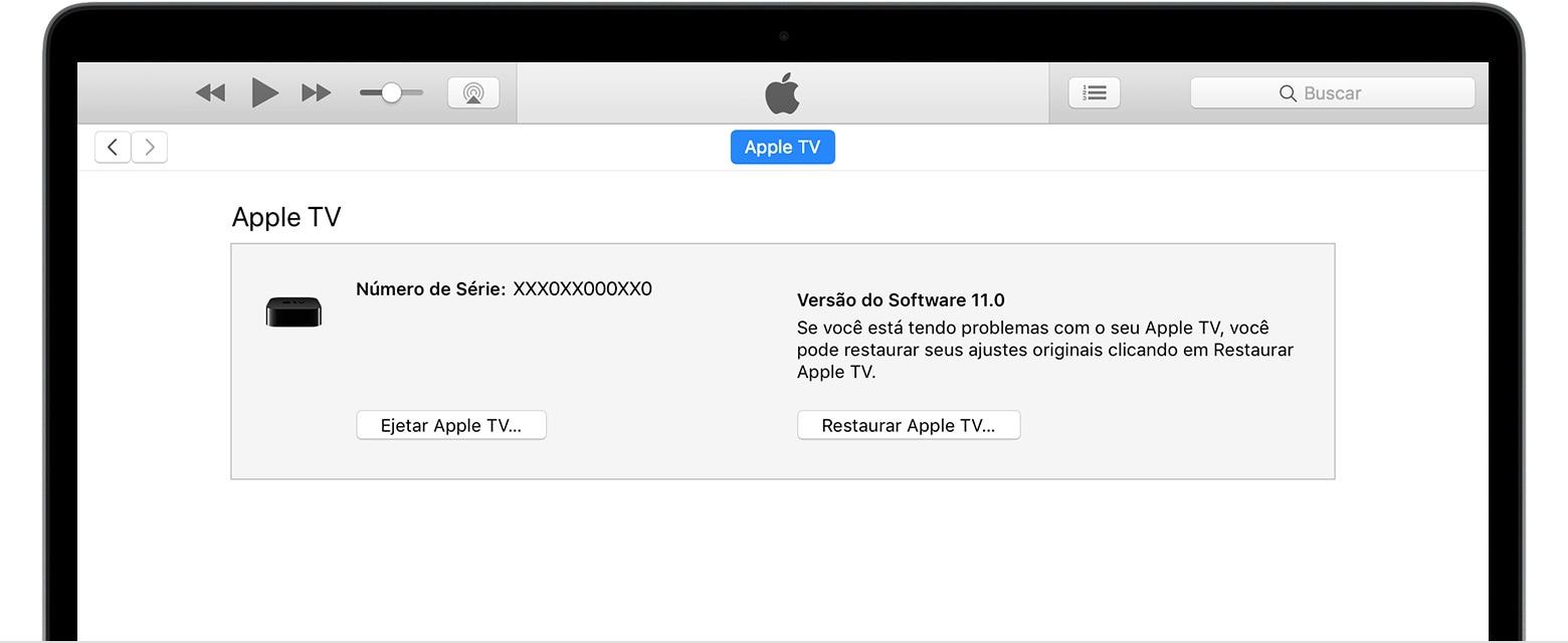 Restoring Apple TV