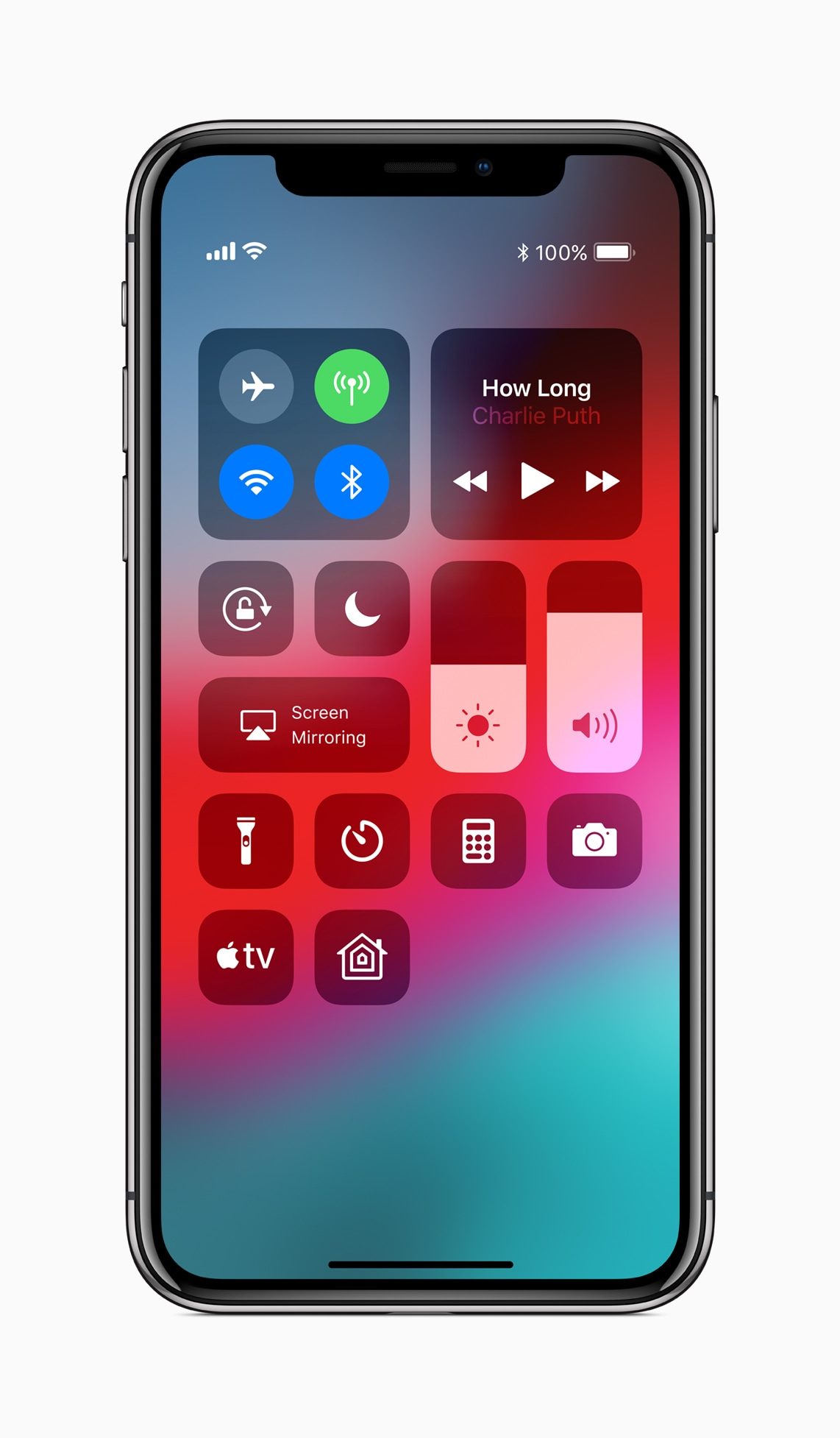 Apple TV na Central de Controle do iOS 12